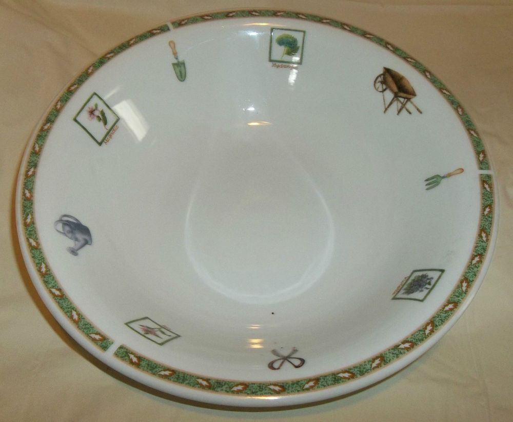 RNF11 Soup Bowl By Royal Norfolk China With Green Rim And Leaves EUC #RoyalNorfolk & RNF11 Soup Bowl By Royal Norfolk China With Green Rim And Leaves EUC ...