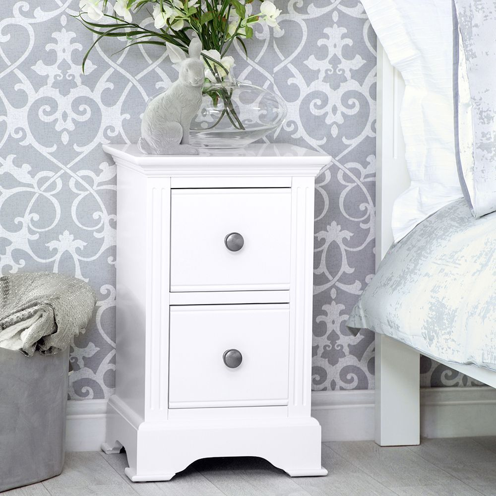 Banbury White Painted Small Bedside Table In 2020 Large Bedside