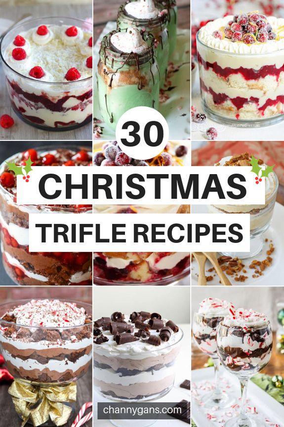 30 Christmas Trifle Recipes: Holiday Treats #trifledesserts