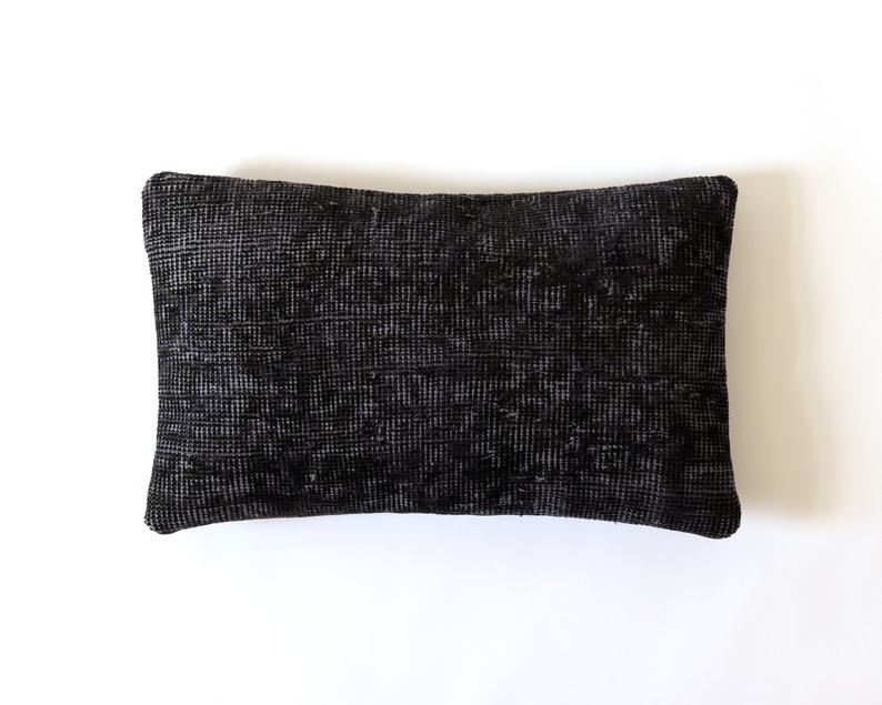 Best Lumbar Pillow Cover 12X20 Case Overdyed Pile Rug 30X50 400 x 300