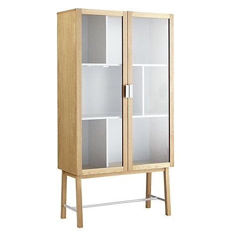 £599 Buy House By John Lewis Espen Tall Glass Cabinet Online At  Johnlewis.com