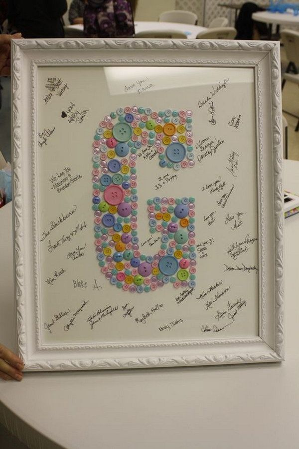 32 Cool Diy Baby Shower Guest Book Ideas Baby Shower Pictures