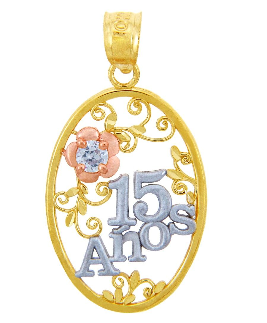 quinceanera jewelry | Gold Pendants - Sweet 15 Aos ...