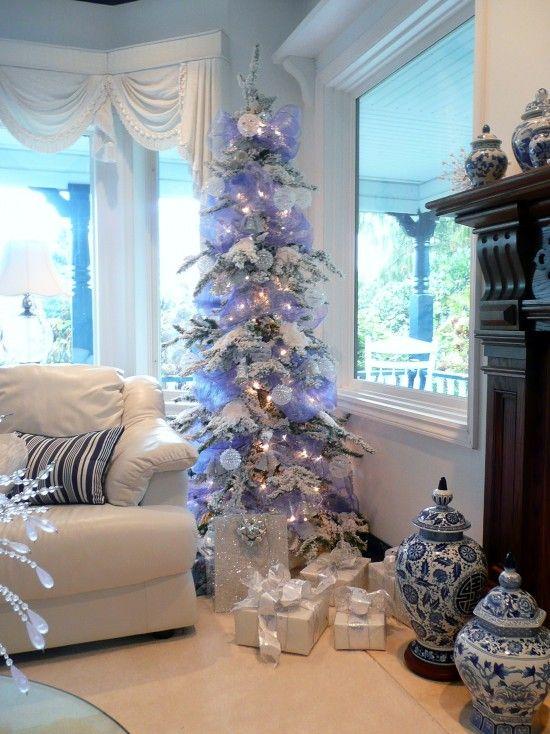 blue and white christmas Christmas Spirit Pinterest Christmas