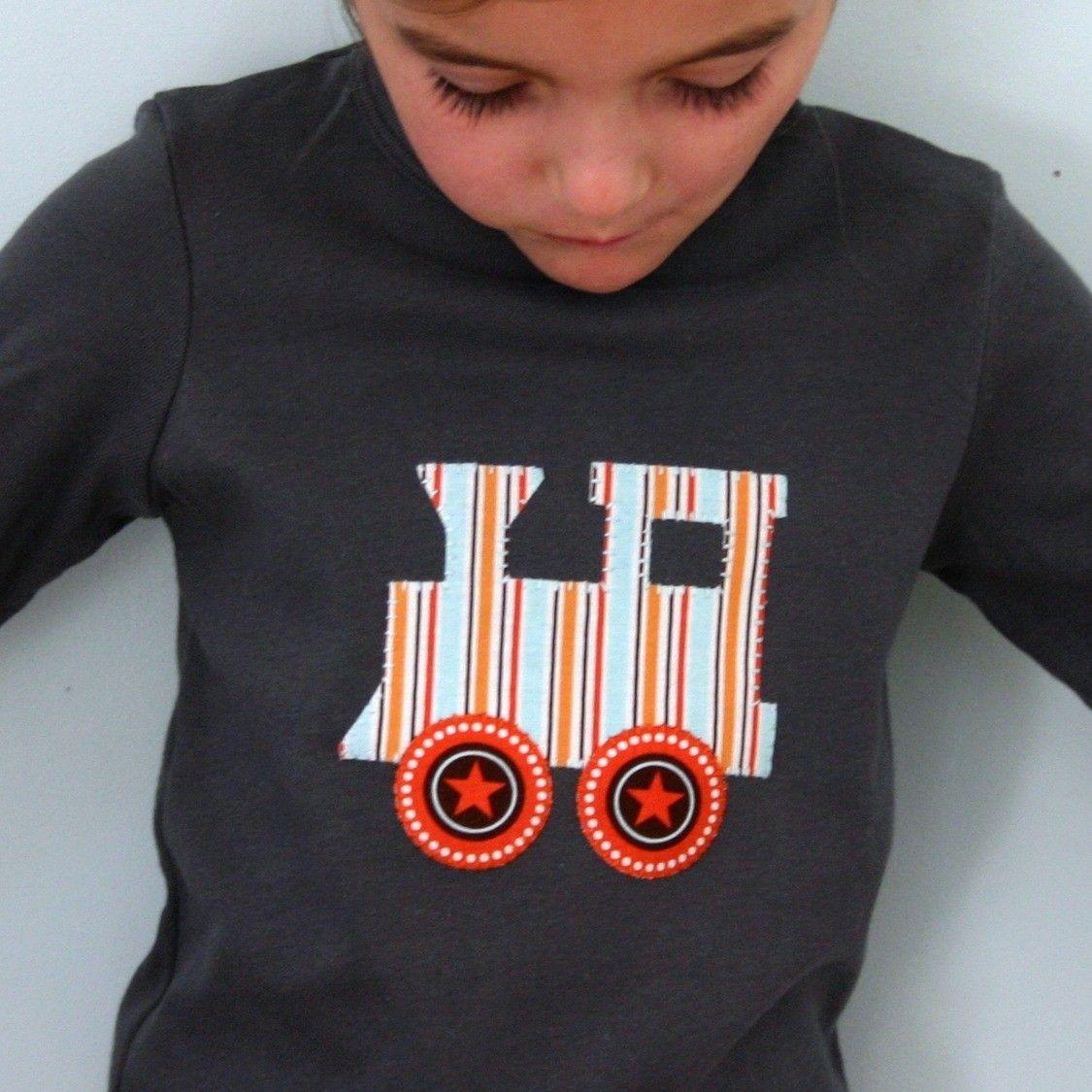 train star shirt toddler and kids asphalt grey tshirt