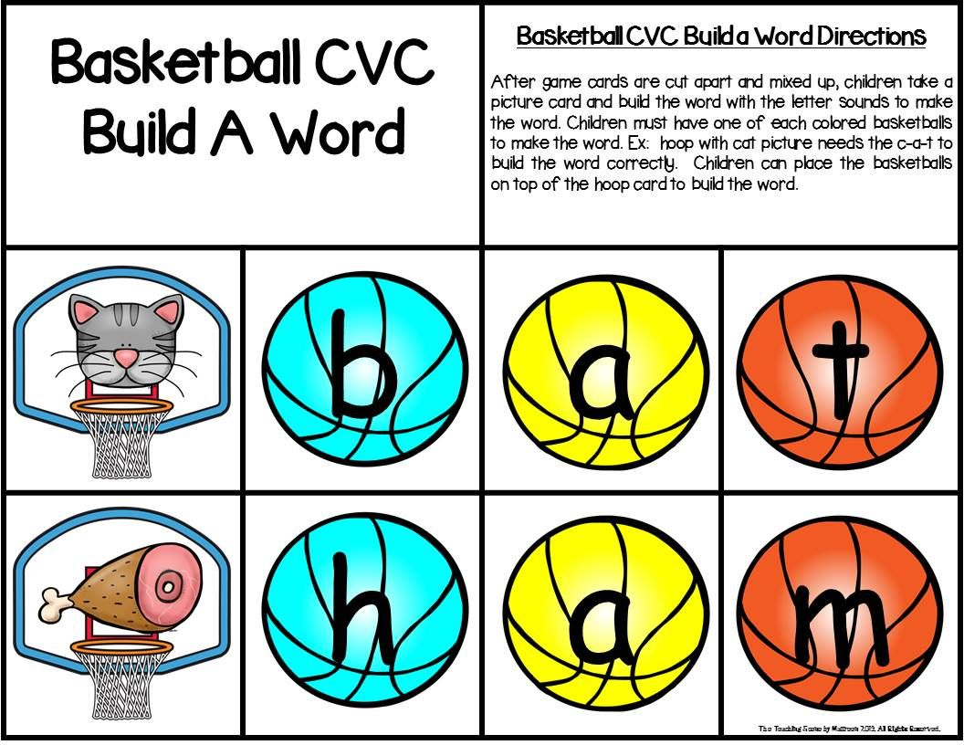 Basketball Build A Cvc Word