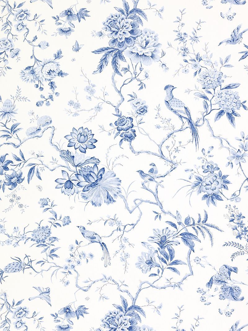 Perfect China Print In Blue Cninoiserie Prints Graphics In