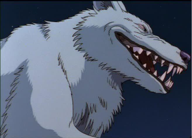 Princess Mononoke Moro The Wolf Laughing Studio Ghibli