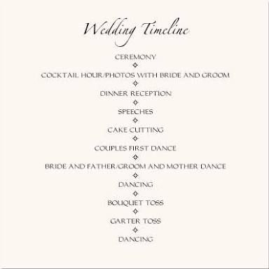 Image Result For Ceremony And Reception Flow Ceremony And
