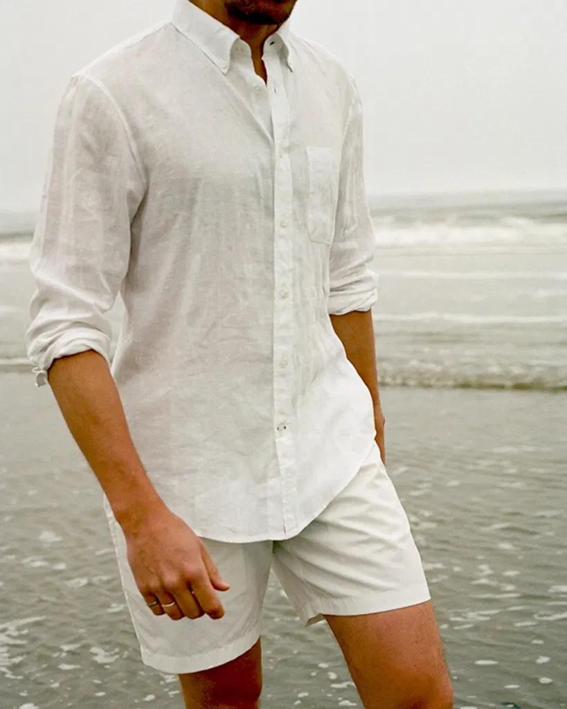Gentleman S Lifestyle Fashion Health Inspiration Magazine Linen Shirt Men Beach Outfit Men Linen Shirt Outfit [ 1024 x 819 Pixel ]