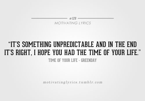 Time Of Your Life - Greenday