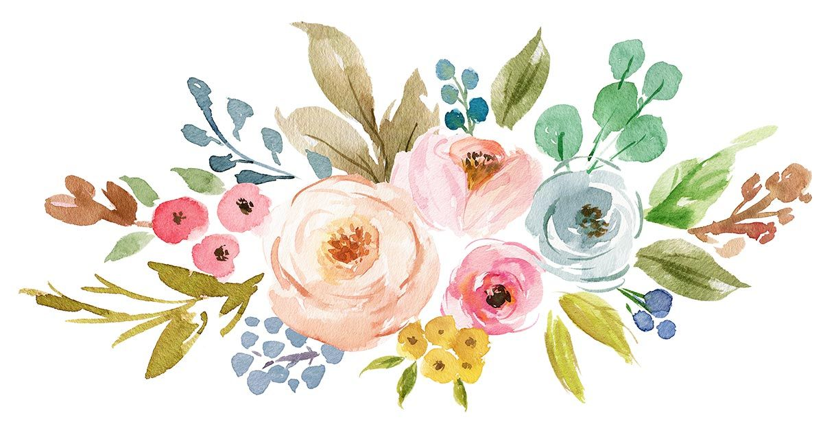 Idea By Estelle Hamman On 1 Art Floral Free Watercolor