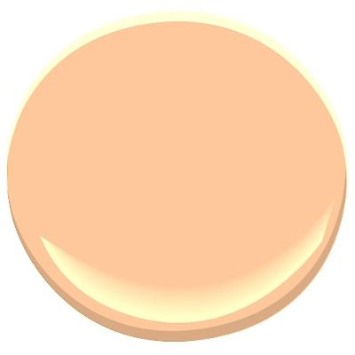 """peach pudding"""" - creamy orange paintbenjamin moore, maybe for"""