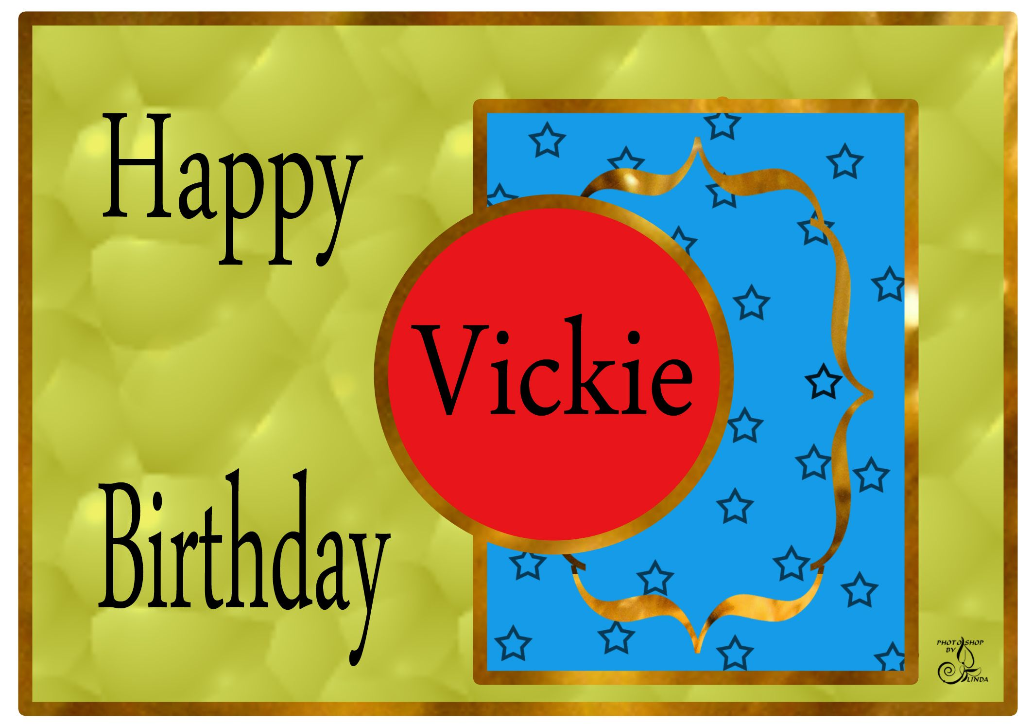Vickie Happy Birthday Card (With images) Happy birthday