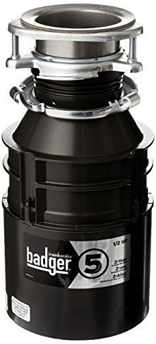 InSinkErator Badger 5 Garbage Disposal with Power Cord, 1/2