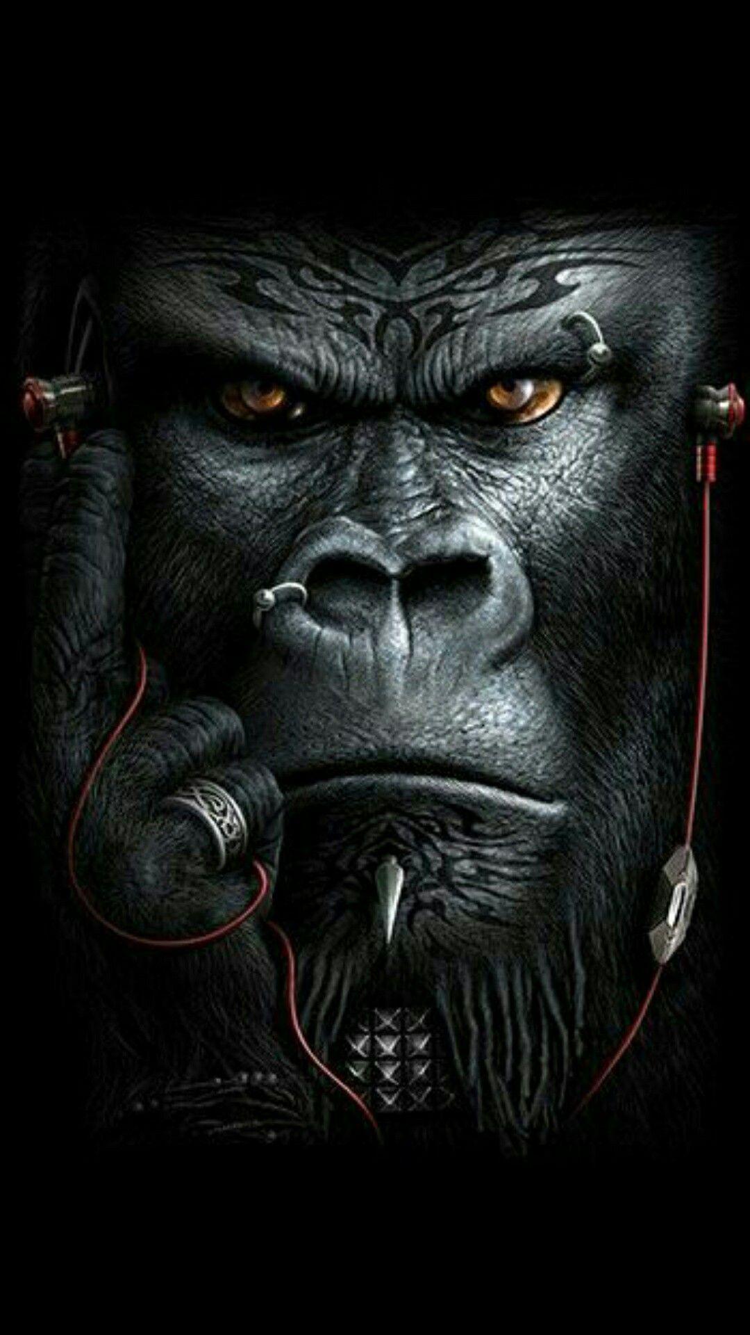 Pin Ot Polzovatelya Dawid Van Der Gryp Na Doske Oboi Gorilla Tatu Tatuirovki Obezyan King Kong