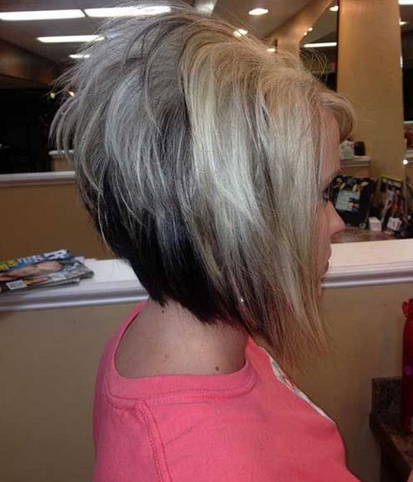 layered line short bob hairstyles