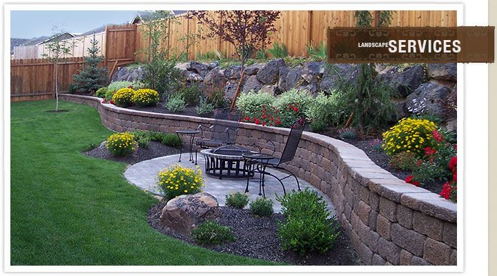 Like curve, texture and color of wall Backyard Landscape Project