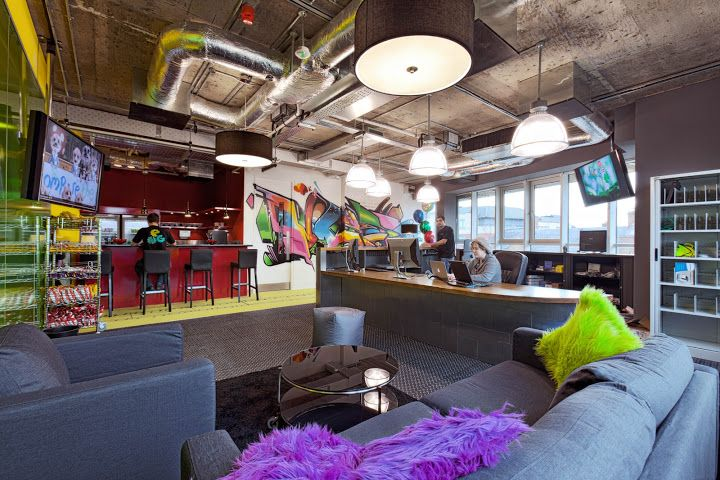 Déco bureau google design office design interior google