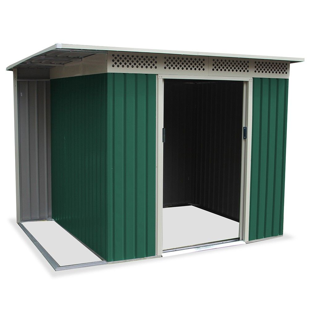 Box casetta giardino per esterno in lamiera zincata 257x200xh187cm chester b casette in - Casette da giardino in alluminio ...