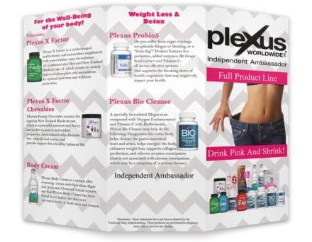 Plexus Brochure Chevron green or grey by PlexusDesignsBYMoJo
