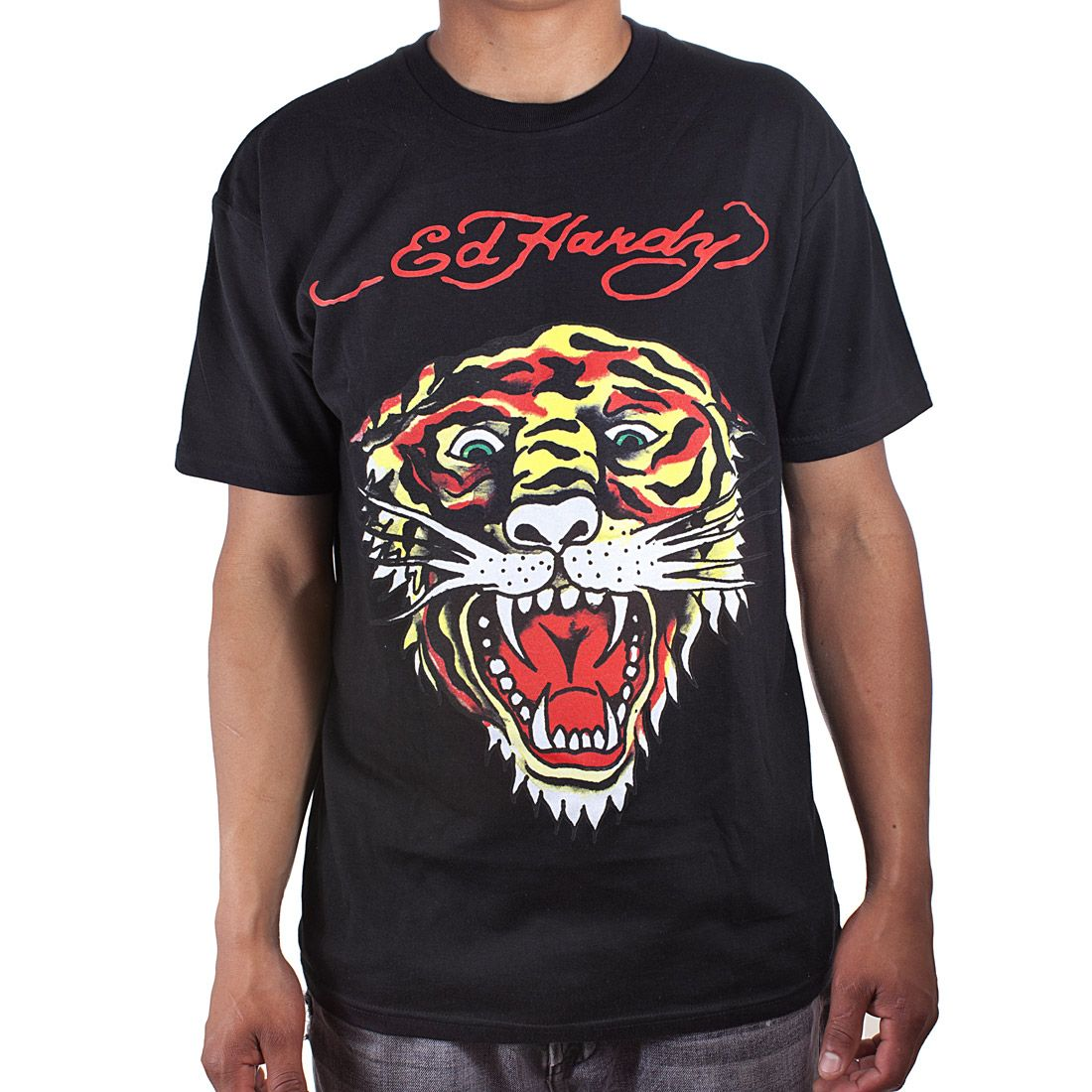 295d95b9 the Ed Hardy Mens Tiger Tattoo Graphic Tee Shirt is a quality cotton T-shirt  features original ED Hardy graphics Crew neck and Short sleeves.'