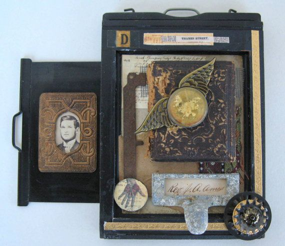 Recycled Art Small VictorianTheme Assemblage set by TheBeatGallery, $125.00