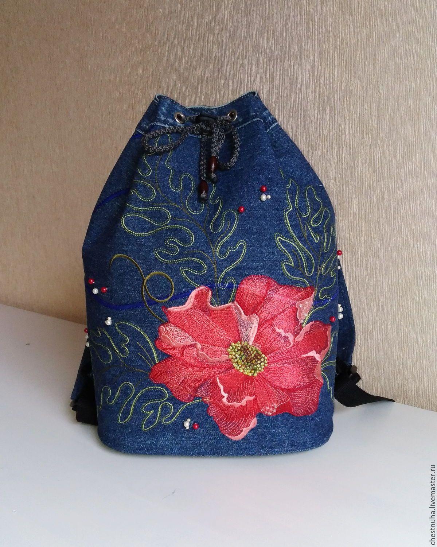 04e48f5554c7 Купить Рюкзак джинсовый женский Винтаж - рюкзак, рюкзак ручной работы, рюкзак  женский, рюкзачок