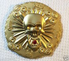 Bones & Jewels - Eventide - Satin Gold Finish - New Unactivated Geocoin