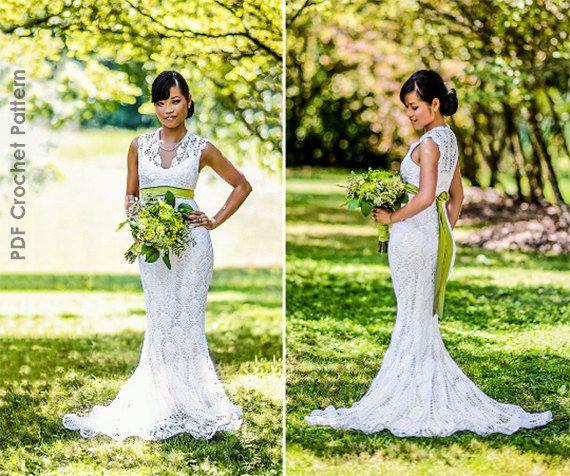 Crochet Wedding Dress Train Pattern #hochzeitskleiderhäkeln