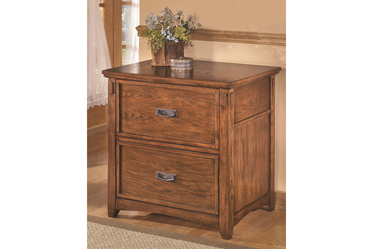 Cross island file cabinet medium brown products in