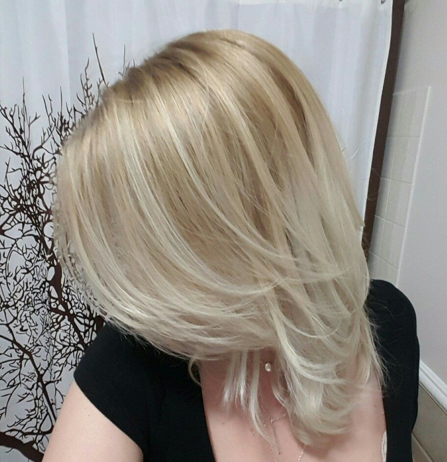 Blonde balayage with natural roots hair pinterest blonde