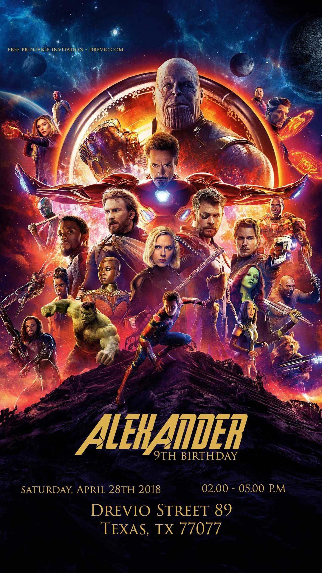 CHOOSE YOUR SIZE Infinity War Poster NEW Marvel Avengers Movie 2018 FREE P+P