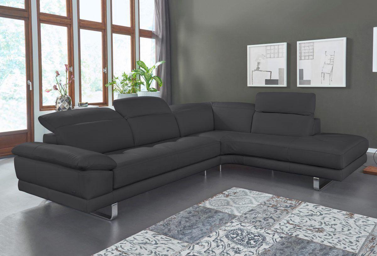 Ecksofas Design natuzzi ecksofa oronzo schwarz ottomane rechts jetzt bestellen