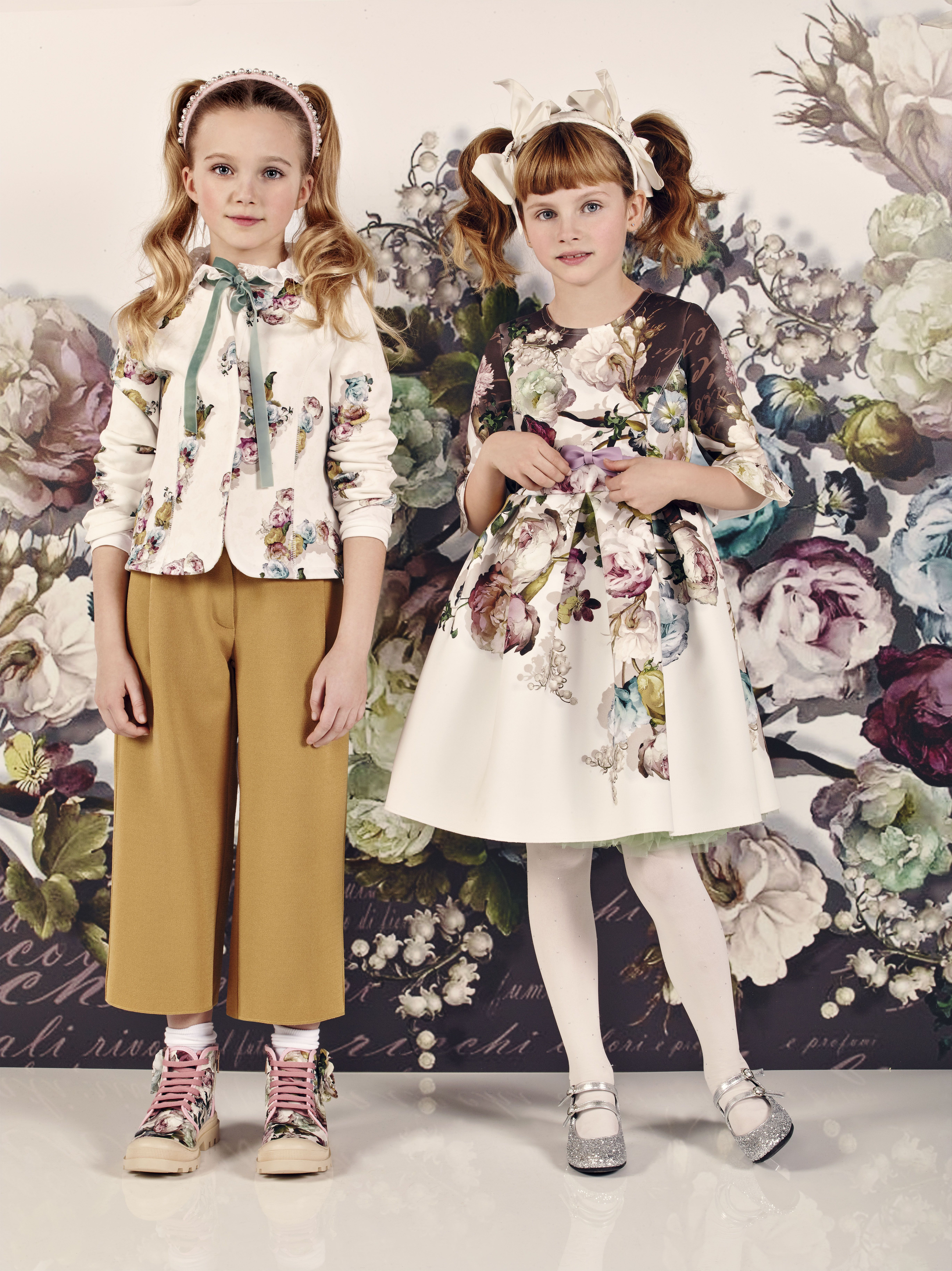 Abito fiori maniche volants | Crianças | Designer kids