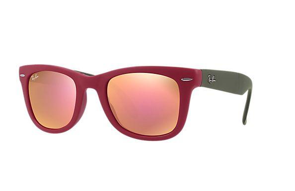 ÓCULOS DE SOL INJETADO MASCULINO · Óculos De SolOlhosMasculinoViajanteVerde  VermelhoRay BansLentes 63a389416f