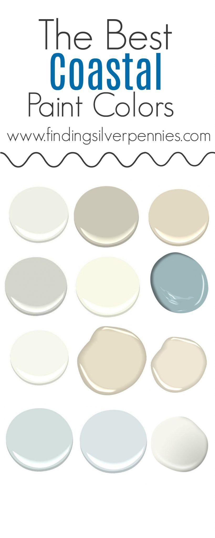 Delicieux The Best Coastal Paint Colors I Finding Silver Pennies