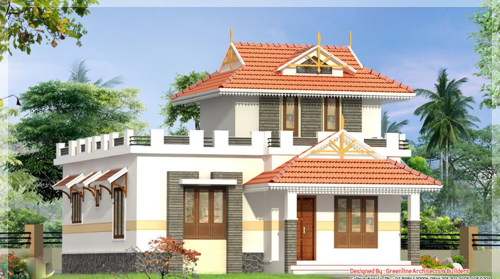 1000 Square Feet 2 Bedroom Double Floor Low Budget Home Design Kerala House Design 1000 Sq Ft House Indian House Plans