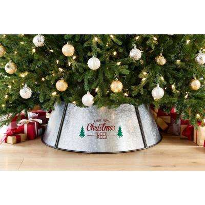Christmas Tree Skirts Collars Christmas Tree Decorations The Home Depot In 2020 Tree Collar Metal Christmas Tree Fresh Christmas Trees