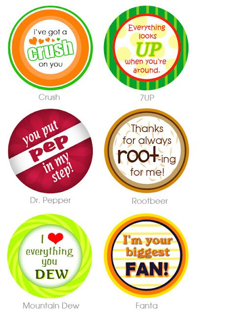 Free Printables For Soda Pop Gifts Created My Own With The Saying