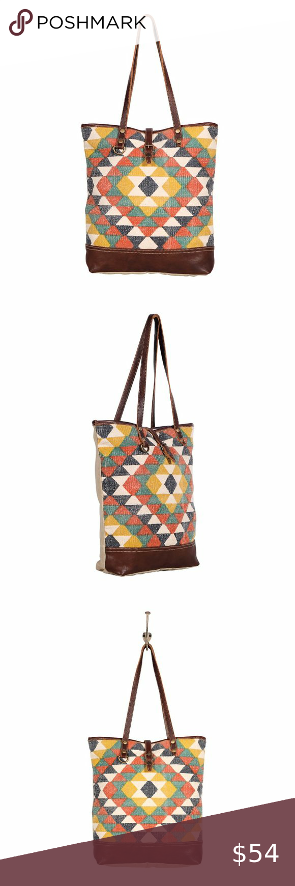 Myra Bag Quirky Quilty Large Tote In 2020 Bags Large Tote Leather Buckle Upcycled canvas handbags myra handbags offers a nature friendly canvas & leather handbag. pinterest
