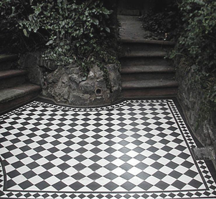 Olde Victorian Tiles - Ennerdale 50.   A timeless Ennerdale 50 range of geometric design Victorian floor tiles.