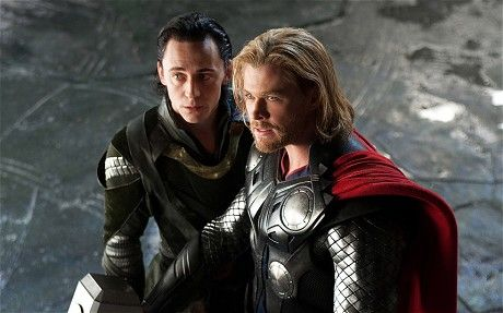 Hiddleston as Loki and Chris Hemsworth as Thor in Thor (2011) Photo: Rex Features