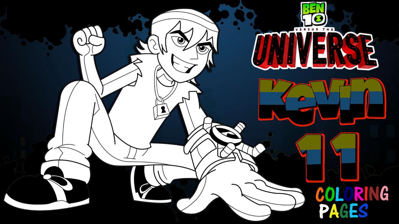 Ben 10 Versus The Universe Kevin 11 Wearing Antitrix Coloring Page Cartoon Network Art Cartoon Network Fanart Art Day