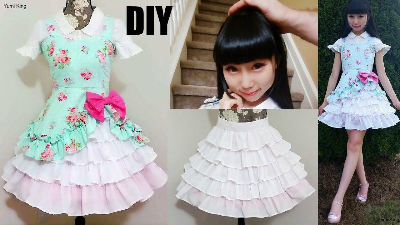 4092860f04 DIY Easy Victorian Inspired Classic Dress + Underneath Ruffle Skirt ...