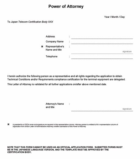 power of attorney form letter related images