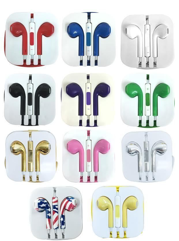 Earphones Earbud Headset Headphone With Mic For Apple Iphone 5 Iphone 6 Ipod 3 5 Headphone With Mic Cell Phone Headset Apple Iphone 5