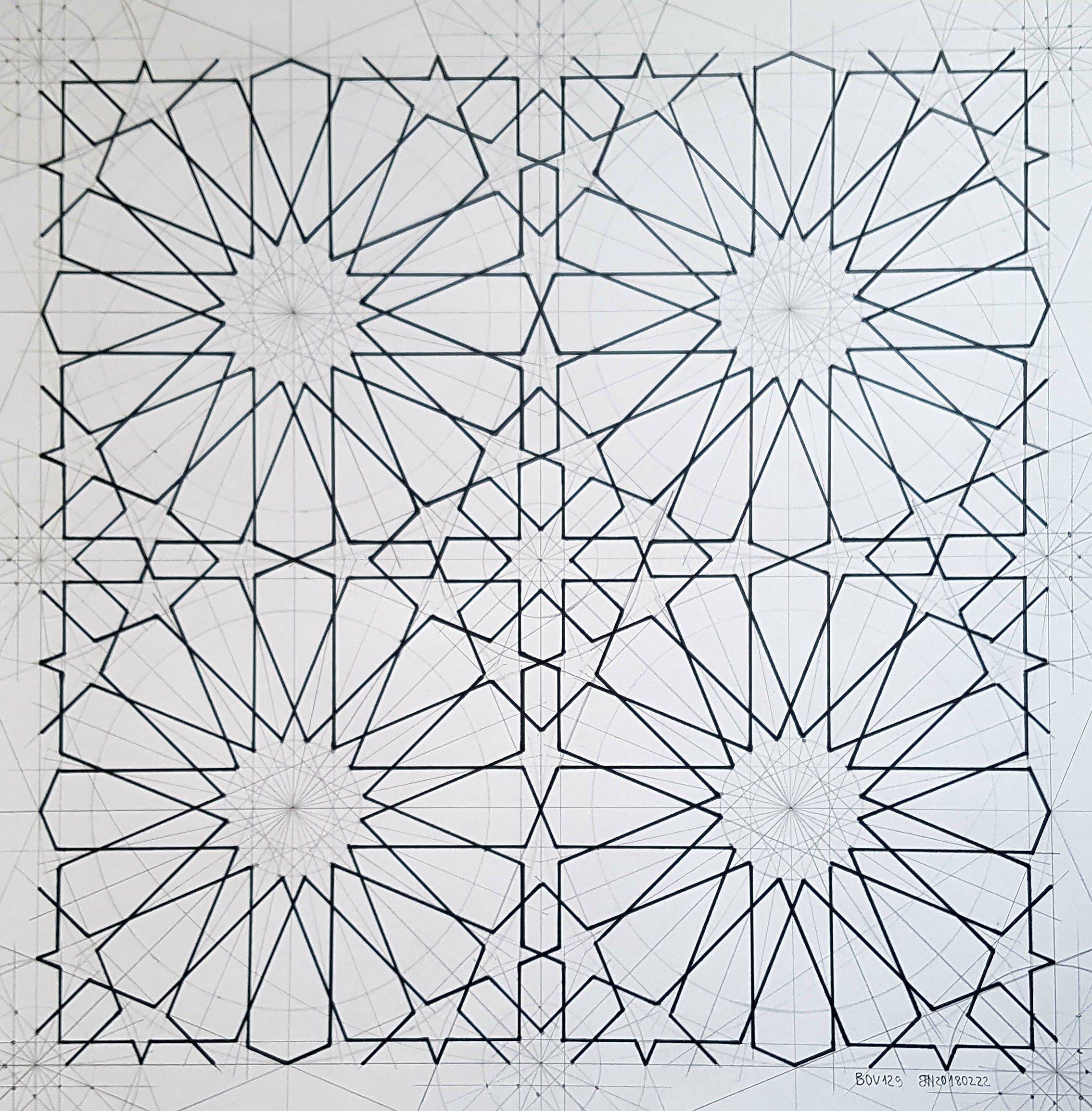 Bou129 Geometric Pattern Tessellation Mathart Regolo54