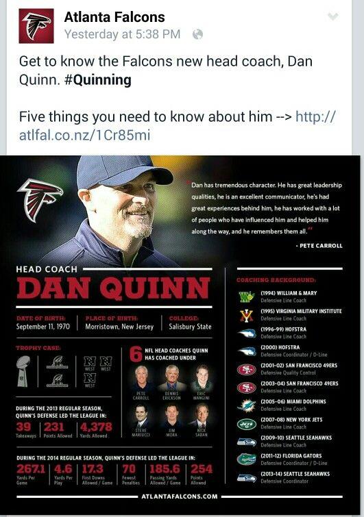 Uga New Head Coach Dan Quinn With Images Atlanta Falcons Leadership Qualities Quinn