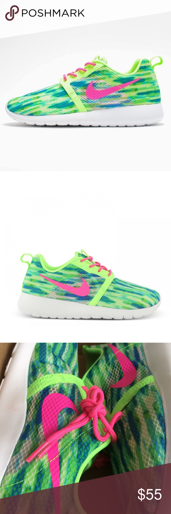 Nike Roshe Run Flight Weight Women S Shoes New Brand New Without Box Size 7 Youth Which Is A Women S Size 8 5 I Have Added A Sizing C Nike Roshe Run Nike Shoe Brands